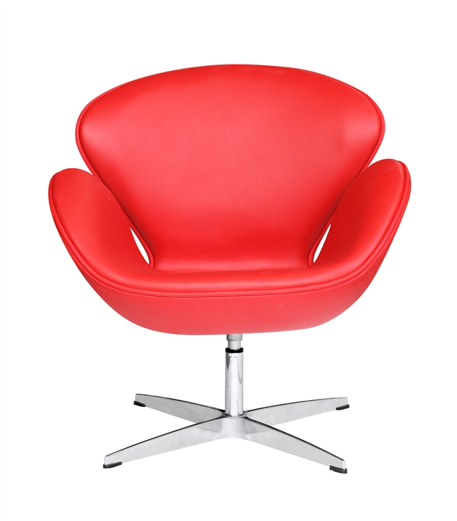 Awesome Fine Mod Imports Arne Jacobsen Swan Chair In Red Leather Evergreenethics Interior Chair Design Evergreenethicsorg