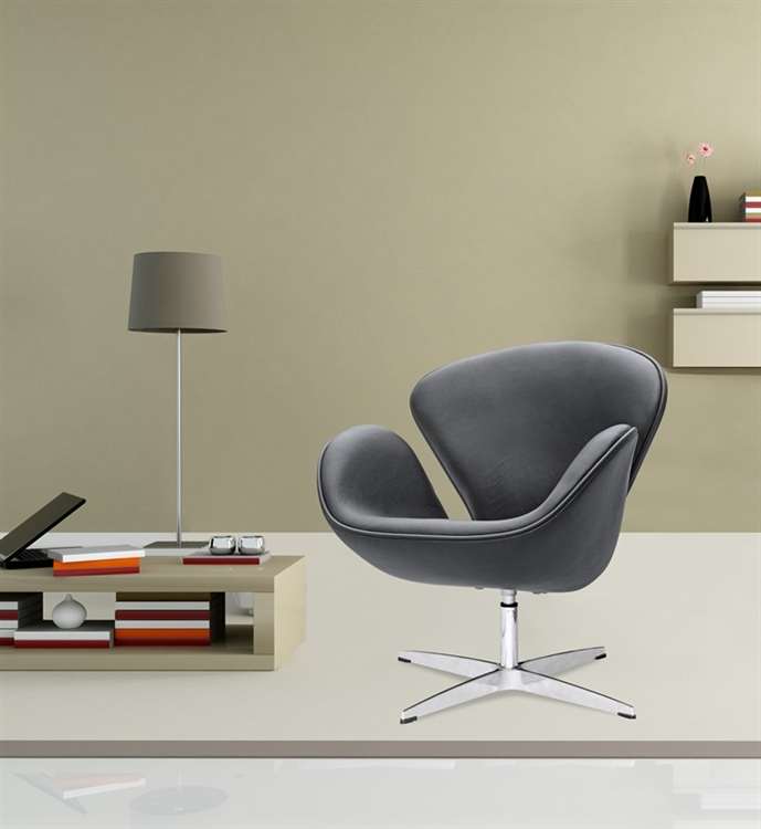Miraculous Fine Mod Imports Arne Jacobsen Swan Chair In Black Leather Evergreenethics Interior Chair Design Evergreenethicsorg