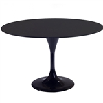 "Fine Mod Imports Eero Saarinen Style Tulip Table 30"" in Black"