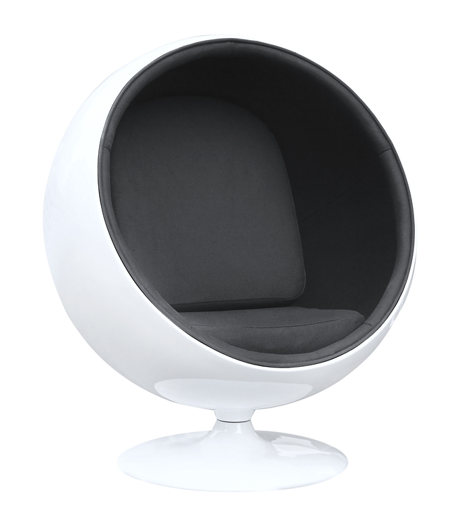 eero aarnio style ball chair black interior. Black Bedroom Furniture Sets. Home Design Ideas