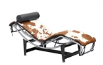Pony Chaise Lounge LC4 Brown Cowhide