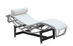 Fine Mod Imports Leather Chaise Lounge LC4 White Leather