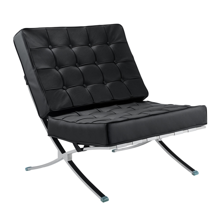 Superbe Fine Mod Imports Modern Tufted Pavilion Chair In Italian Leather