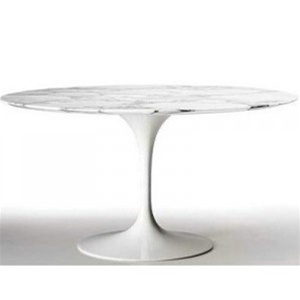 fine mod imports eero saarinen style tulip marble table 48 in white - Saarinen Tulip Table