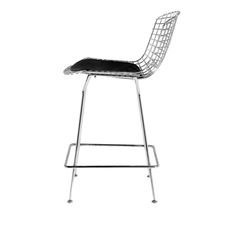 Swell Fine Mod Imports Bertoia Wire Style Counter Stool Chair Theyellowbook Wood Chair Design Ideas Theyellowbookinfo