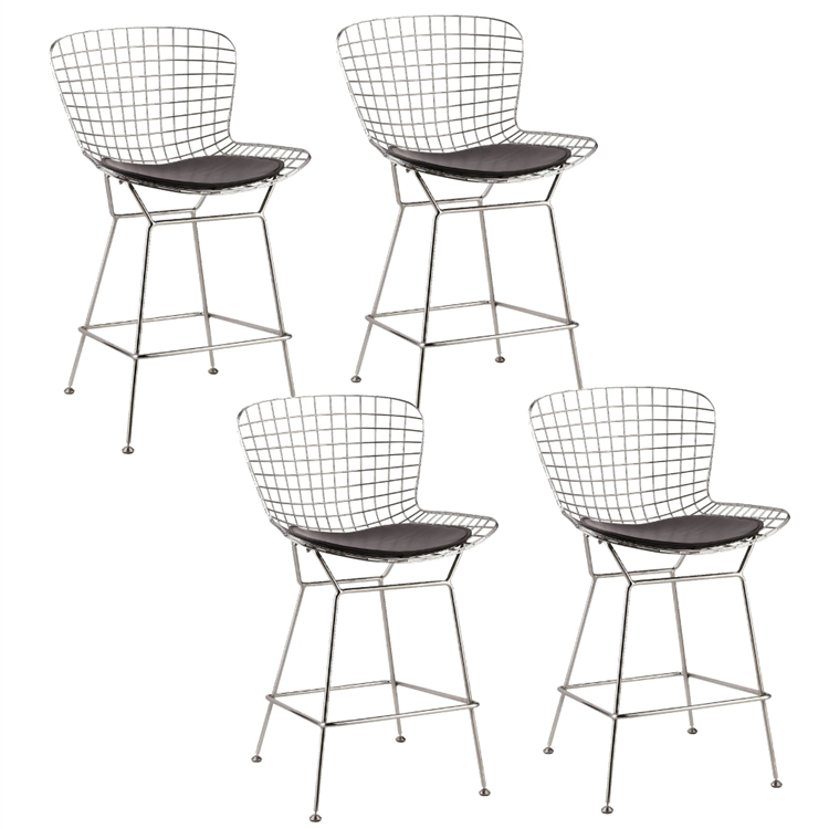Swell Fine Mod Imports Bertoia Wire Style Counter Stool Chair Set Of 4 Theyellowbook Wood Chair Design Ideas Theyellowbookinfo