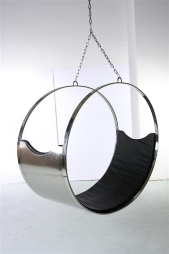 Fine Mod Imports Ring Hanging Chair With Italian Leather