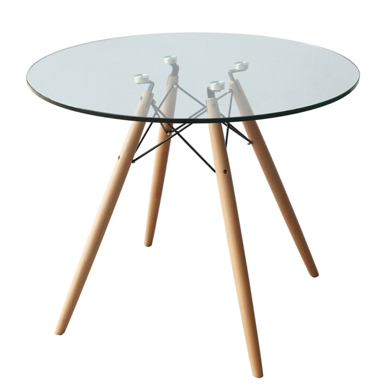 Fine Mod Imports Dsw Woodleg Dining Table 36 Glass Top