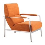 Zuo Modern Jonkoping Arm Chair Orange