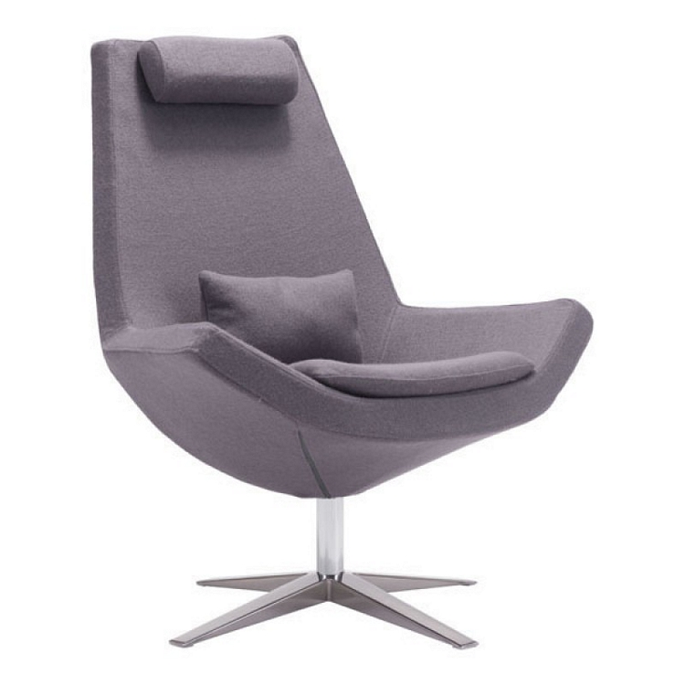 . Zuo Modern Bruges Occasional Chair Charcoal Gray