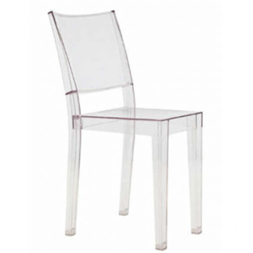 Fine Mod Imports Philippe Starck Style Ghost Clear Square Chair