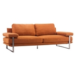 Zuo Modern Jonkoping Sofa Sunkist Orange