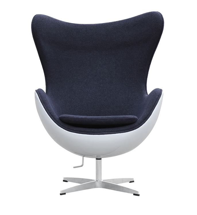 fine mod imports arne jacobsen fiberglass fiesta egg chair in dark gray wool