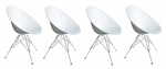 Fine Mod Imports Eco Wirebase Dining Chair Set of 4