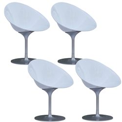 Fine Mod Imports Eco Flatbase Dining Chair Set Of 4