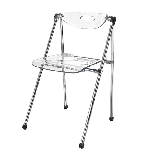 Magnificent Fine Mod Imports Acrylic Telescoping Folding Chair Evergreenethics Interior Chair Design Evergreenethicsorg