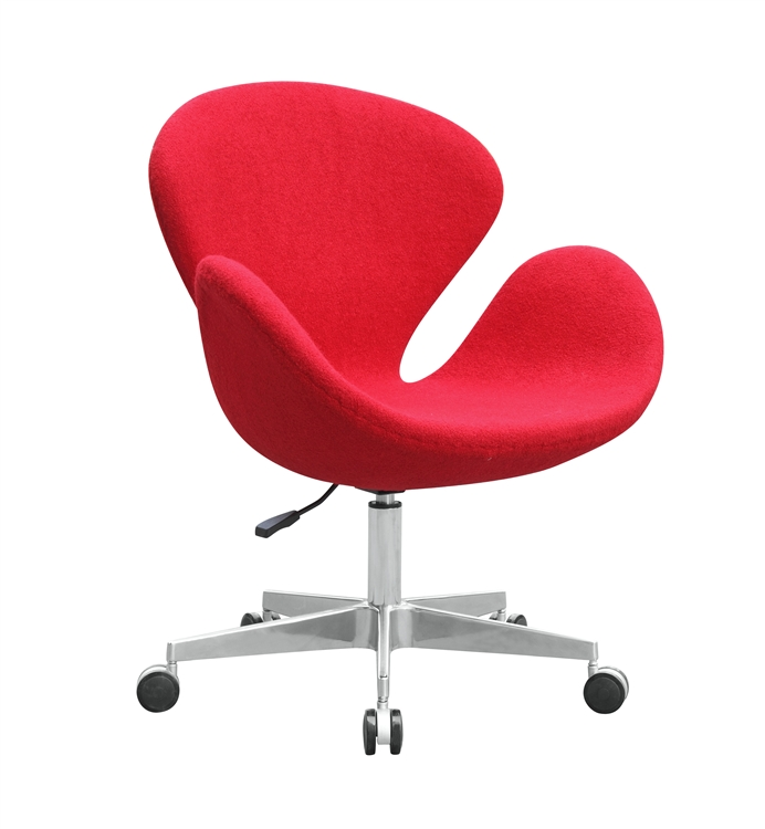 Ordinaire Fine Mod Imports Arne Jacobsen Swan Chair In Wool With Casters