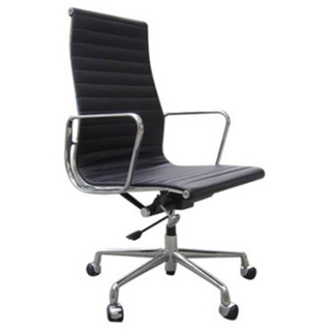 Fine Mod Imports Togo Ribbed High Back Leather Office Chair