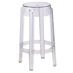 Fine Mod Imports Philippe Starck Style Charles Ghost Counter Stool