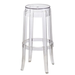 Fine Mod Imports Philippe Starck Style Charles Ghost Bar Stool