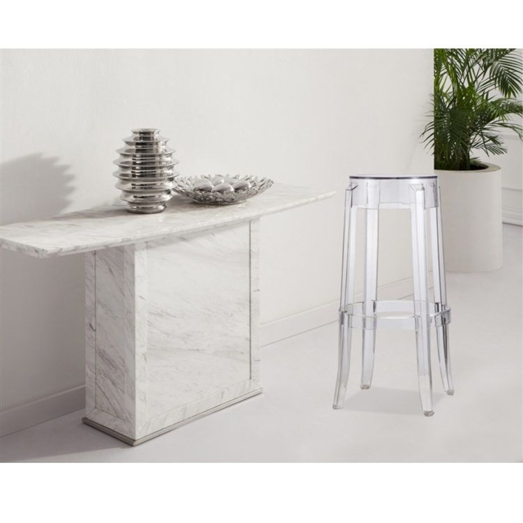 Brand new Fine Mod Imports Philippe Starck Style Charles Ghost Bar Stool AT81