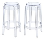 Fine Mod Imports Philippe Starck Style Charles Ghost Bar Stool Set Of 2