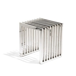 Fine Mod Imports Zeta Stainless Steel Bench Small