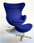 Fine Mod Imports Arne Jacobsen Egg Chair and Ottoman In Fabric