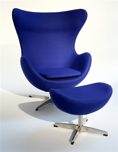 Captivating Fine Mod Imports Arne Jacobsen Egg Chair And Ottoman In Fabric