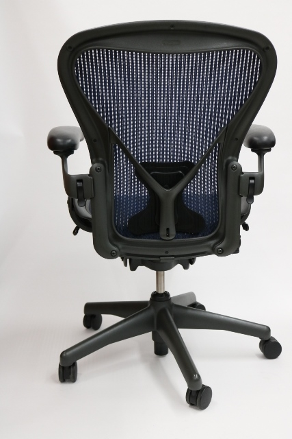 herman miller aeron chair in cobalt blue wposturefit - Herman Miller Aeron Chair