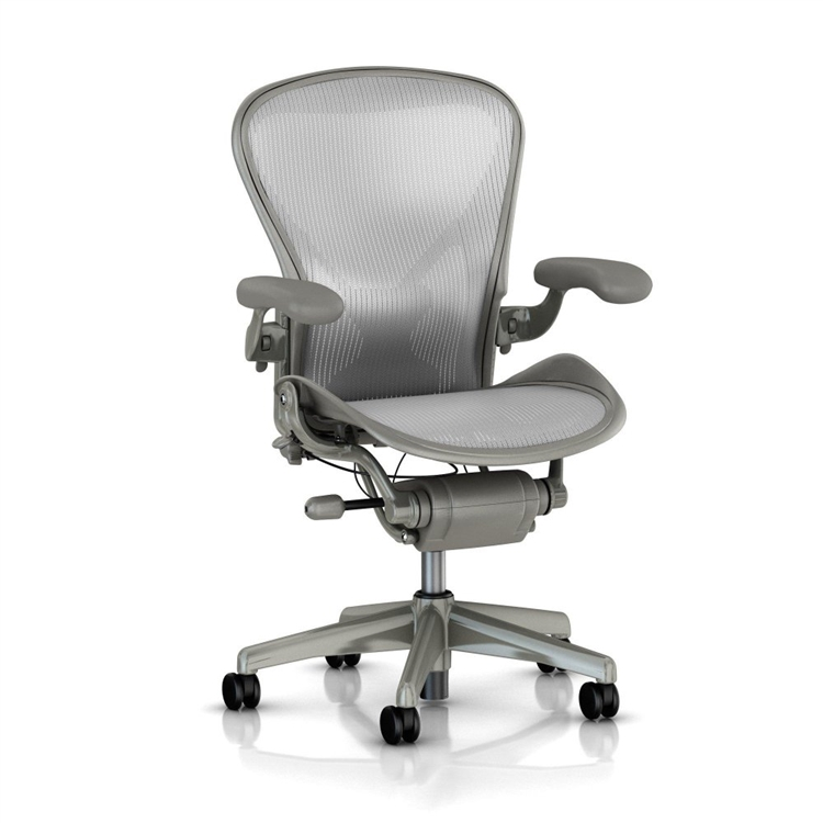 Stupendous Herman Miller Aeron Chair Size B In Gray Loaded Ocoug Best Dining Table And Chair Ideas Images Ocougorg
