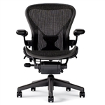 Herman Miller Aeron Chair Size B In Black With Posturefit