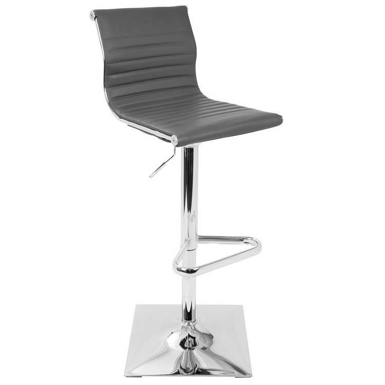 Miraculous Lumisource Master Contemporary Height Adjustable Barstool In Grey With Swivel Uwap Interior Chair Design Uwaporg