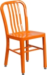 Flash Furniture Orange Metal Indoor-Outdoor Chair