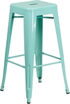 Flash Furniture 30'' High Backless Mint Green Indoor-Outdoor Barstool