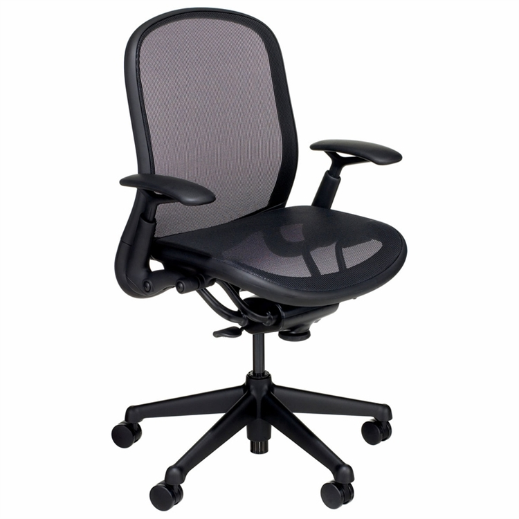 Knoll Chadwick Chair Fully Adjustable Model In Black Mesh