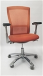 Knoll Life Chair Fully Adjustable Model Orange Seat and Mesh Back