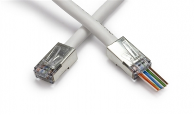 Platinum Tools 100020C Shielded EZ-RJ45® for CAT5e & CAT6 with Internal Ground 50/Clamshell