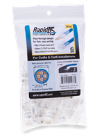 Rapid45 RJ45 Connectors by Platinum Tools 50pc Bag PN 2106C