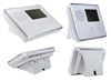 2GIG: 2GIG-CP-DESK Control Panel Desktop with White Plastic Mount Stand