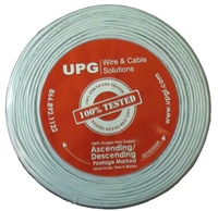 18/2 500' Solid Riser Fire Alarm Cable, Flame Retardant PVC Jacket White