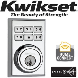 KWIKSET, 99100-013, Polished Chrome, Kwikset, Square, Contemporary, Deadbolt,