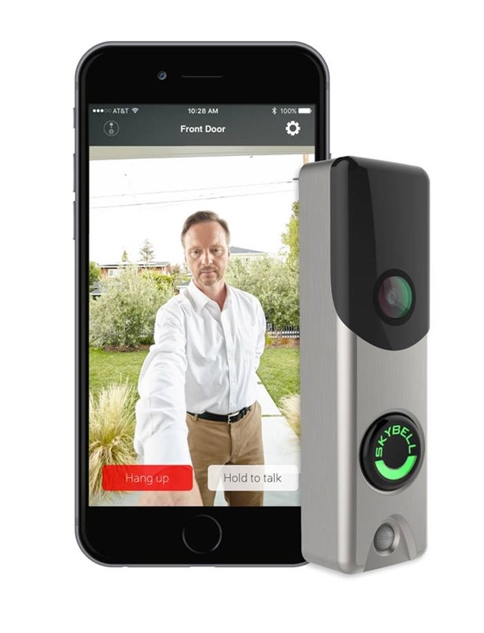 Satin Nickel Skybell Is A Wi Fi Video Doorbell With Video