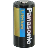 CR123A Panasonic Lithium Battery, 1400 mAh Capacity, 3 V Nominal Voltage Replaces: 123, 123A, BR2/3A, CR123, CR123A, CR123R, CR17335, CR17345, DL123A, EL123AP, K123LA, L123A, SF123A, VL123A, 5018LC