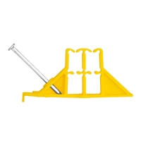 NSi Industries ES-YL-25 Easy-Stack Cable Stacker Yellow 25pk