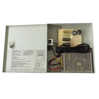 SV-CP1204-5A, 12 volt DC, 7 amp, 9 Port, Output, CCTV, Power Supply, LTS, LTB305, Outdoor Housing, Bracket, Aluminum, Beige, Low Voltage Supply cameras, cctv, LTS, LTH805, Outdoor, Back Open, Camera Housing, Aluminum, Beige, Model Number, DV-AT1207M-D09