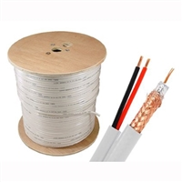 RG59 18/2 Siamese Cable Spool (500 ft., Copper Conductor)