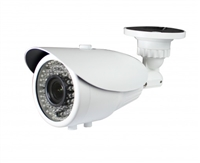 850TVL Pixel Plus Outdoor Bullet Camera, 24IR to 70ft, 3.6mm Lens, DC 12V, IP 66, White