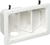 "Two-Gang Recessed TV Boxâ""¢ w/ Angled Openings"