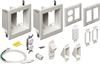 Recessed 2-Gang Upper 1-Gang Lower TV Bridge II Kit